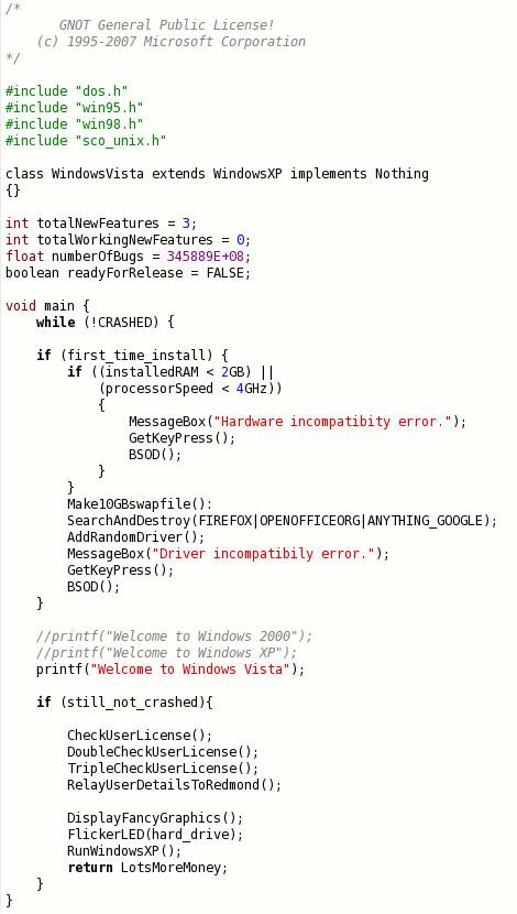 Vista source code